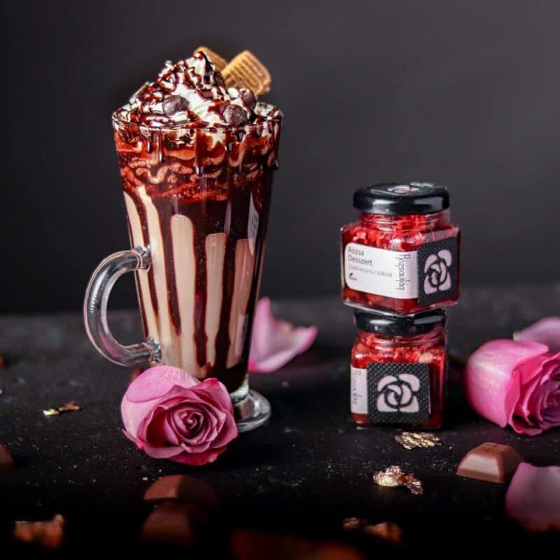 Rózsa Desszert - rózsa zselé és belga csokoládé-1