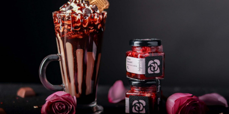 Rózsa Desszert - rózsa zselé és belga csokoládé-6