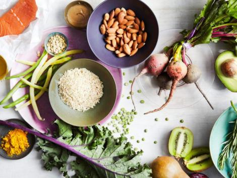 egészséges étel összetevők